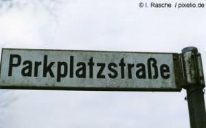 Parkplatzstrasse - Hier fand die Razzia statt