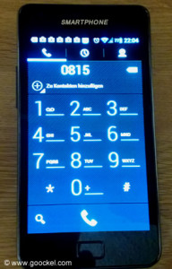 Smartphone mit Telefonapp