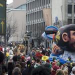 unzählige feiern Abdanken des Papstes in Düsseldorf