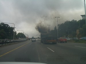 Sauerstoffmangel wegen Verschmutzung der Luft