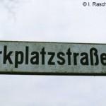 Die sonst so beschauliche Parkplatzstr. in Bollemheim