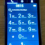 Die Telefon-App im Einsatz